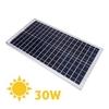 Pannello solare policristallino 12v 30w telaio in alluminio e protezione in vetro temprato %281%29