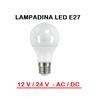 Lampadina led 12 v  24 v ac  dc e27 per utilizzi a bassa tensione