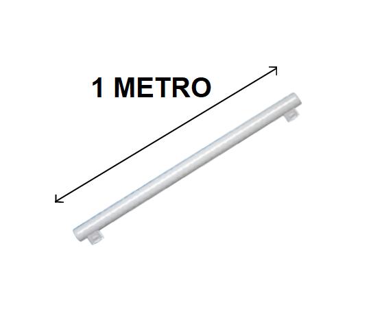 LINESTRA LED 2 ATTACCHI 1 METRO 14W LUCE CALDA ATTACCO S14S SOSTITUTO 75W TRADIZIONALE