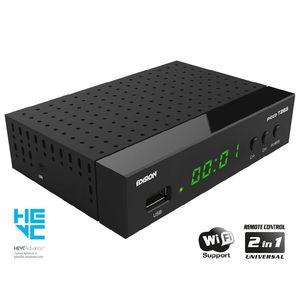 EDISION PICCO T265, DECODER DIGITALE TERRESTRE Full High Definition DVB-T2, H265 HEVC 10 Bit, telecomando universale 2 in 1 per il ricevitore e la TV, supporto per Wi-Fi