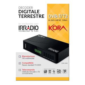 DECODER DIGITALE TERRESTRE FULL HD PER SWITCH OFF 2022 - DVB-T2 HEVC H.265 60HZ, 10BIT, FTA – CON PRESA SCART E HDMI, PORTA USB E TELECOMANDO UNIVERSALE CON APPRENDIMENTO TV 2 IN 1