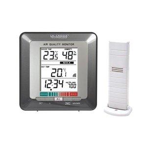 Misuratore della qualità dell'aria con sensore di temperatura wireless