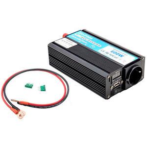 Inverter uscita sinusoidale pura 600W 12V–220VAC+USB