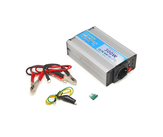 Inverter uscita sinusoidale pura 300W 12V–220VAC+USB