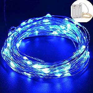 GHIRLANDA LUMINOSA CON 30 LED BLU