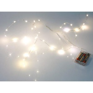 Ghirlanda luminosa con 20 LED bianco caldo