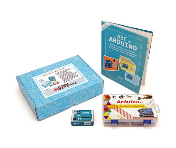 Arduino ORIGINALE CON Componenti per esperimenti E IL Libro l'ABC di Arduino