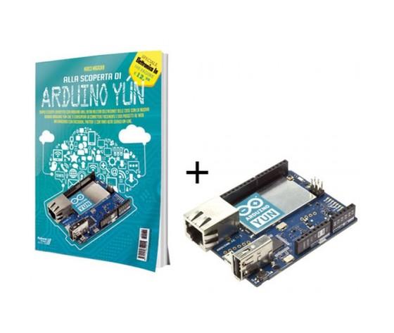 """Kit Arduino Yún con libro """"Alla scoperta di Arduino Yún"""