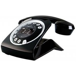 Telefono cordless digitale retrò fashion style nero sagemcom SIXTY