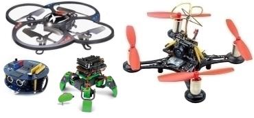 Robotica e droni con kit di montaggio