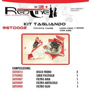 Kit Tagliando TOYOTA YARIS 1.0-1.30 con ABS (fino al 2005)