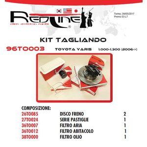 Kit Tagliando TOYOTA YARIS 1.0-1.30 con ABS (dal 2006)