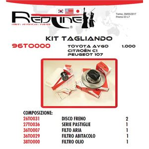 Kit Tagliando TOYOTA AYGO 1000