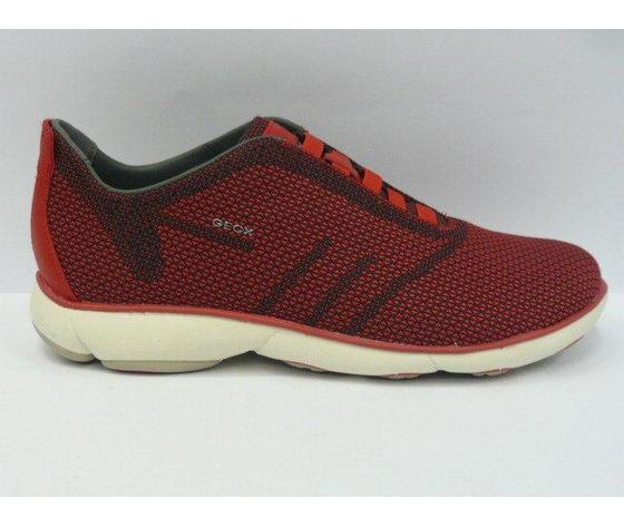 Sneakers uomo Geox casual black/red