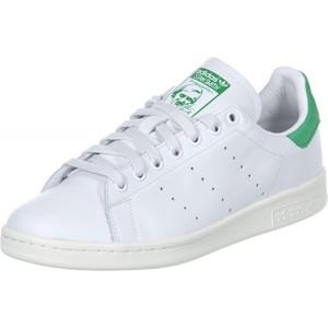 sneaker adidas stan smith j scarpa in pelle colore bianco e verde versione jr