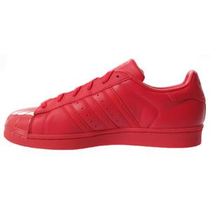 sneaker adidas superstar glossy toe w rossa  in pelle