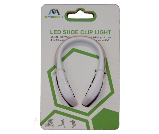 Led shoe clip light