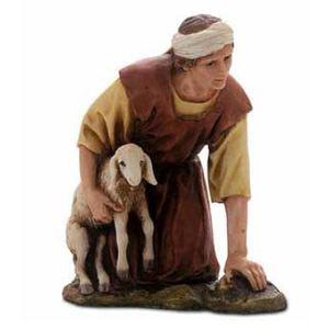 Inginocchiato con agnello 15cm (cod 420 1516 00)