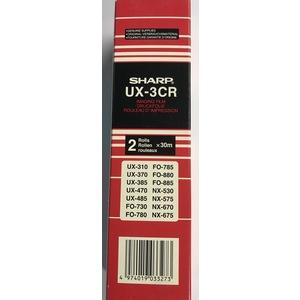 SHARP UX-3CR IMAGING FILM BLACK ORIGINALE (2 ROLLS) UX-310 UX-370 UX-470