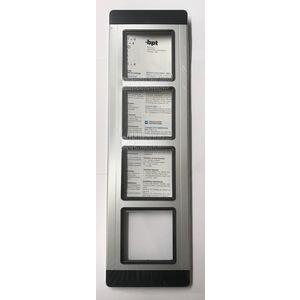 TMP/4 AG - PLACCA 4 MODULI SILVER - 60060400