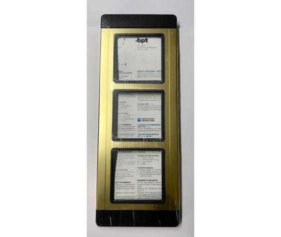 TMP/3 AU - PLACCA TRE MODULI GOLD - 60060700