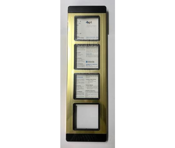 TMP/4 AU - PLACCA QUATTRO MODULI GOLD - 60060800