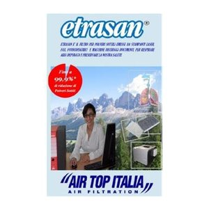 Air Top Italia Etrasan Filtro per Stampanti Laser, Fax, Fotocopiatrici e Distruggi Documenti
