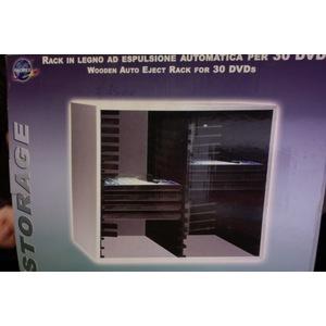 Rack in legno ad espulsione automatica per 30 Dvd