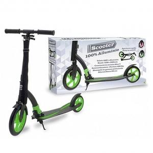 Monopattino ripiegabile Scooter verde e nero