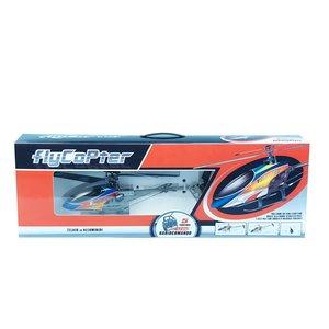 """Elicottero """"FlyCopter"""" 42 cm, radiocomandato, 5 funzioni. Telaio in alluminio, pale con angolo di incidenza variabile e barra stabilizzatrice."""