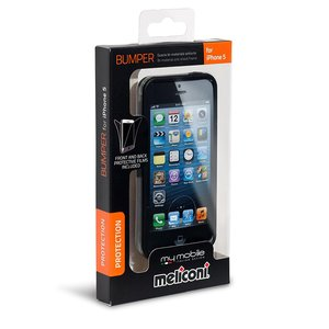 Meliconi Custodia per iPhone 5/5S Bumper black