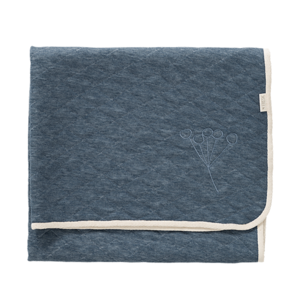 COPERTA NORDICA IN COTONE BIOLOGICO - BLUE INDIGO FOG