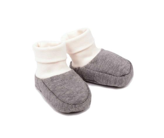 SCARPINE BABY BOOTS COLOR GRIGIO - 100% COTONE BIOLOGICO