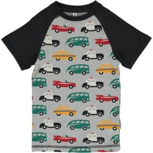 Giovani T-shirt a maniche corte shirt bio-cotone bambini auto Turchese Blu 100/% COTONE
