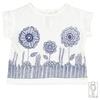T shirt bimba fiori blu1