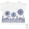 T shirt bimba fiori blu 2