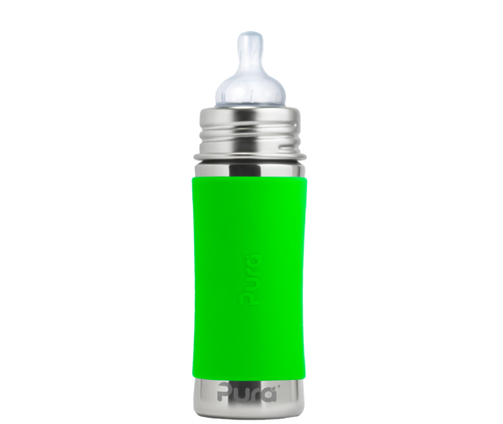 BIBERON 325ML IN ACCIAIO INOX  - 100% PLASTIC FREE - PURA