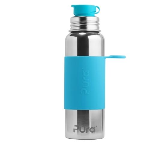 BORRACCIA 850ML IN ACCIAIO INOX CON TAPPO SPORT - 100% PLASTIC FREE - PURA