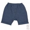 Pantalone denim in lino e cotone