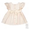 Vestito per bambina in puro lino rosa %281%29