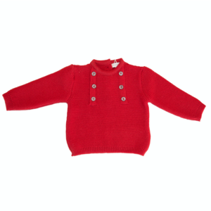 PULLOVER ROSSO IN LANA