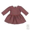 Vestito per bambina in flanella felpata di cotone taglie 6mesi e 12mesi