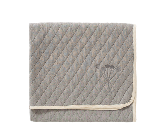 COPERTA NORDICA IN COTONE BIOLOGICO - GREY