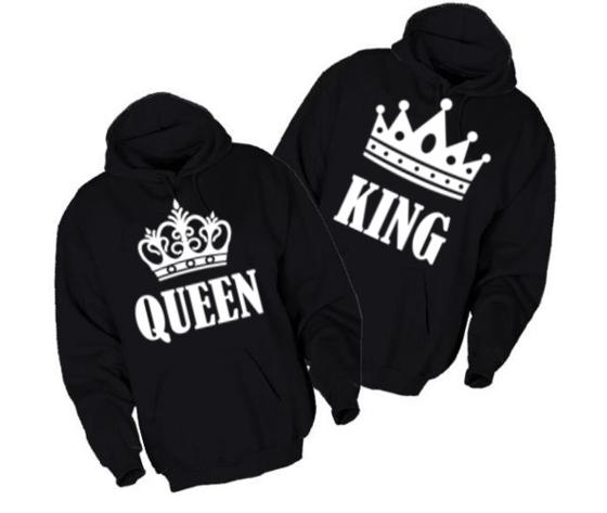 prezzo di fabbrica d8430 33fa0 1 Felpa king e queen donna