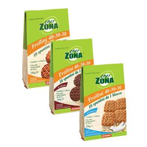 EnerZona - Frollini 40-30-30 - Sacchetto 250g cocco