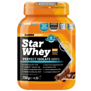 named star whey perfect proteine isolate siero del latte gusto a scelta  750 g