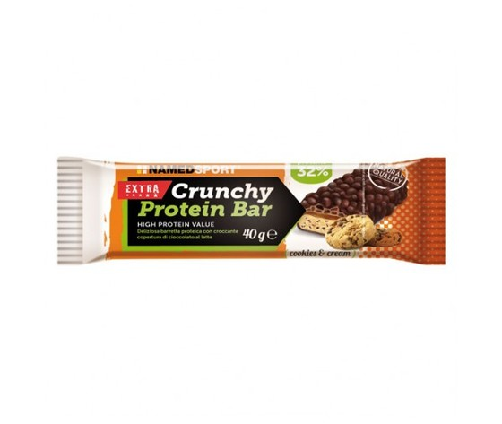 named crunchy protein bar 40g caramello