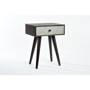 Comodino legno marrone 1 cassetto New Retrò