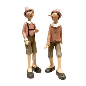 Coppia pinocchi in piedi rosa