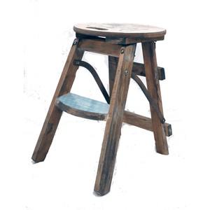Scala sgabello legno naturale stampa Paris